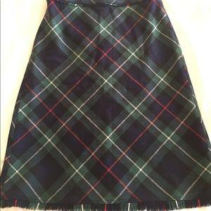 J. Crew Tartan plaid wool skirt